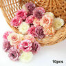 10Pc Artificial Silk Fake Peony Flowers Floral Heads Wedding Bouquet Home Decors