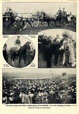 Hamburg Pferderennen auf dem Horner Moor großer Hansapreis Kaiserpaar Bildd.1909