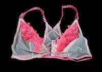 Victorias Secret Nwt Dream Angels Embroidered Floral Unlined Bralette Bra M L