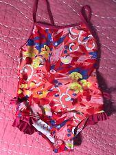 Catimini One-Piece Floral Print Bathing Suit Swimsuit 6 Ans