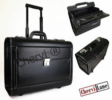 High Quality Wheeled Business Executive Laptop Flight Pilot Bag Case Briefcase