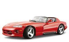 Burago 15022 Dodge Viper RT10 1992 Red Pre Painted Metal/Plastic Kit 1:18 ScaleT