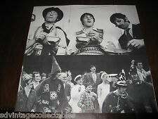 Beatles Magical Mystery Tour book POSTER sheet from Record Album rock orig lp