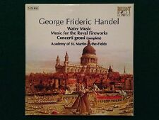 5 CDs BOX , George Frideric HANDEL - WATER MUSIC FOR THE ROYAL FIREWORKS
