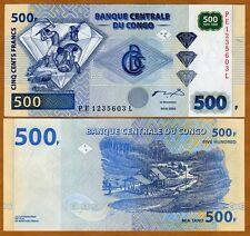 Congo D. R. 500 Francs, 2002, P-96A, UNC