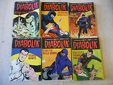 DIABOLIK ANNO XI-lotto nrr 1/5/9/10/19/23 ASTORINA 1972