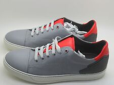 NEW Lanvin Men's Cap-Toe Light Grey Leather Low-Top Sneakers Size 10 UK 11 US