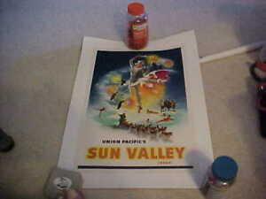 UNION PACIFIC'S SUN VALLEY IDAHO LITHOGRAPH BY C PETE