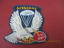 WWII US ARMY 503 RD PARACHUTE INFANTRY REG THE ROCK  JACKET  PATCH