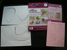 Job Lot WINGS OF LOVE Embossing Board + HEARTS Box Templates FREE GIFTS Bargain