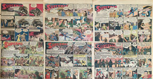 12 SUPERMAN Sunday Comics by Siegel and Schuster, 1942-1946 WW II story