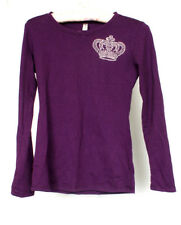 Reserved Women's Purple Jewel Stone Crown Design Long Sleeve Shirt Top Size S