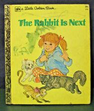 "Golden Book ""THE RABBIT IS NEXT"" - 1978 - (INSTANT 20% OFF)"