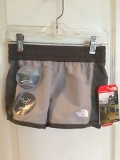 The North Face Girl's G Class V Water Shorts Silver Gray XS 6 Hike NWT!