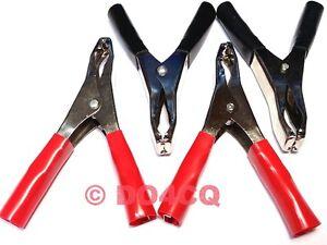 4 Stück Krokodilklemmen 50A ( 2x Rot und 2x schwarz) Batterieklemmen ( D04B )