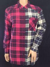 Ladies Contrast Check Boyfriend Shirt Size 10 BNWOT