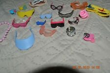 Lot of 10 Vintage Barbie Sunglasses/regular glasses/goggle, jewelry & headband