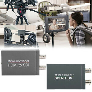 1080P SDI to HDMI + SDI Out Mini HD Video Micro Converter Audio Switcher A8