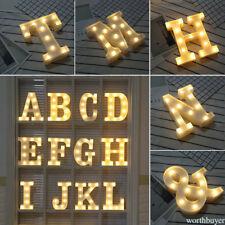 ALPHABET LETTER LIGHTS LED LIGHT UP WHITE WOODEN LETTERS STANDING / HANGING