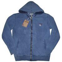 MAGLIA FELPA UOMO M L XL XXL 3XL giacca cappuccio colore jeans cotone Be Board
