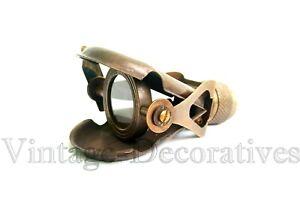 Antique Vintage Brass Monocular Marine CSA London Engraved Binocular Pocket Gift