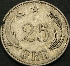 DENMARK 25 Ore 1894 - Silver - Christian IX - VF/XF - 3152 ¤