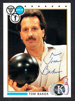 Tom Baker #73 signed autograph auto 1990 Kingpins PBA Bowling Trading Card