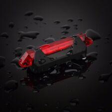 Super brillante USB Recargable Bicicleta De Cola Trasero Luz De Advertencia Lámpara Rojo Rojo
