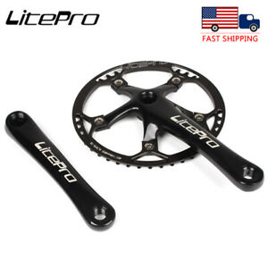 Litepro 170mm Crank 130BCD 45-58T Chainring Road Folding Bike Crankset Sprocket