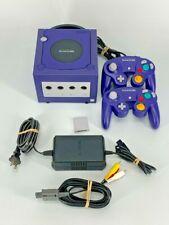 Nintendo GameCube purple/indigo Console Bundle Complete Fully tested DOL-001