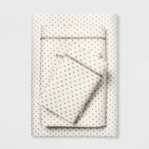 3pc OPALHOUSE Printed Cotton Percale Sheet Set | Twin XL | Gold | 🆕