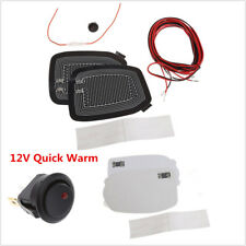 2x Universal 12V Car Side Mirror Glass Heater Heated Defogger Pad Mat Quick Warm