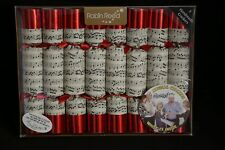 Robin Reed 8 Handmade Musical Christmas Crackers NEW (Open Box)