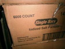 Single serve packet salt 6000 in each case. 10 cases for this lot