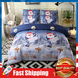 4 Pcs Queen Size Luxury Christmas Bedding Set,Duvet Cover,Bed Sheet,Pillowcases