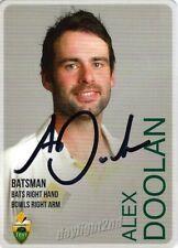 ✺Signed✺ 2014 2015 AUSTRALIAN Cricket Card ALEX DOOLAN Big Bash League