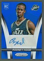 Rodney Hood 2014-15 Panini Prizm Blue Refractor RC Rookie Auto Autograph /499