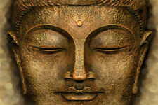 Buddha Meditation,Yoga Warm Bronze colours Karma Canvas Yoga Zen print