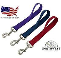"""Nylon Dog Traffic Leash Made in USA 12"""",18"""" & 24""""  Many Colors"""