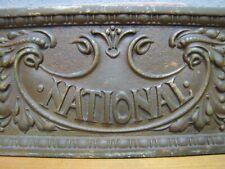 Old NATIONAL CASH REGISTER 533F DRAWER FRONT Advertising Sign Plaque Ornate