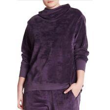 6e4f5030905 Z by Zella 3x Women s Feelin Fine Purple Velour Hoodie Jacket Pullover Top  Cowl