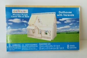 Creatology Wooden Puzzle Dollhouse with Veranda 8 Sheets New Sealed In Plastic