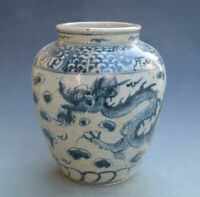 Chinese Blue Porcelain Antique White Vase And Jar Old Rare Large Vases Hand Used
