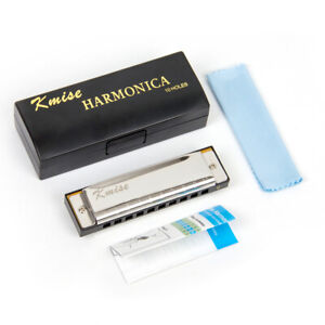 Blues Harmonica Diatonic Harp Mouth Organ 10 Hole Key of C Phosphor Bronze Reeds