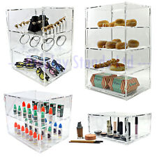 More details for acrylic cake, food, bread, pastry bakery display case stand with doors (ds30/+)