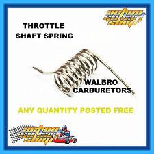 GO KART SPRING WALBRO CARBURETOR THROTTLE SHAFT SHUTTER RETURN YAMAHA KT100