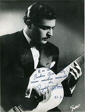 ANGEL IGLESIAS 1950 SPANISH GUITAR VIRTUOSO SIGNED & INSCRIBED