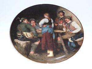 Wandteller/ Sammelteller – Wilderer in der Sennhütte  – Lilien Porzellan Austria
