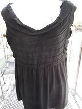 NWT-Max Edition sz M black knit sleeveless ruffled top-MSR $68