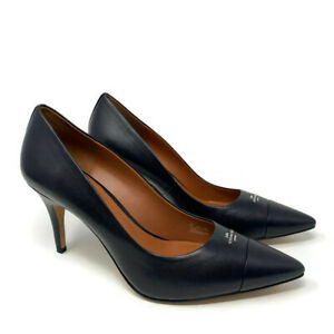 Coach Patrice Leather Pumps Womens Size 11 B Black High Heels Shoes